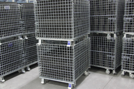 Rolling Wire Mesh Contrainers
